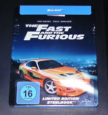 THE FAST AND THE FURIOUS LIMITIERTE STEELBOOK EDITION BLU RAY NEU & OVP