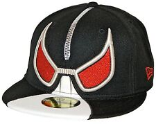 New Era 59Fifty Bane Zipper Head Fitted Cap 7 1/4 SAMPLE Black White DC Comics