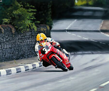 Joey Dunlop Honda RS 125 Isle of Man TT Motorcycle Racing Motorbike Art Print