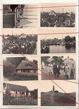 8 x Foto Insel Hiddensee um 1955 DDR Boote Fachwerkhäuser Leuchtturm Hafen !