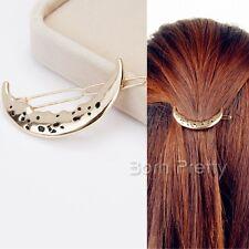 Women Fashion Hallow-out Moon Shape Hair Clip Cute Hair Decorations