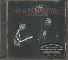 Richard & and Linda Thompson IN CONCERT 1975  LIVE CD NEW Fairport Convention