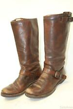 Frye NEW 77609 Veronica Slouch Womens 9 B Tall Brown Leather Harness Boots h