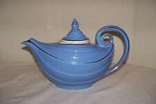 Vintage Hall Teapot Blue Alladin 0669 R 6-Cup With Lid and Infuser, Gold Accents