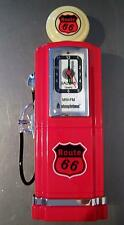 GAS PUMP CLOCK RADIO 50'S AMERICAN RETRO STYLE PETROL PUMP BY STEEPLETONE RED
