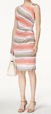 Connected New Sleeveless Striped Sheath Dress Size 16 MSRP $69 #DN 656