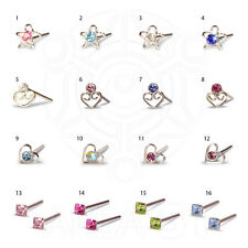 EAR NOSE RINGS STUDS SVAROVSKI JEWELS IDEAL GIFT