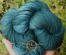 Hand Dyed Yarn Superwash Merino LongTrail Sock INTO THE FOREST Deep Fir Green