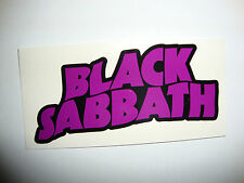 "2  BLACK SABBATH 4"" STICKERS MUSIC GUITAR MOTORBIKE HELMETS   TT IOM"