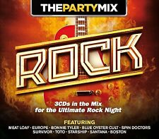 The Party Mix ~ Rock NEW SEALED 3CD ROCK,POP HITS OF THE 60's,70's,80's,90's ETC