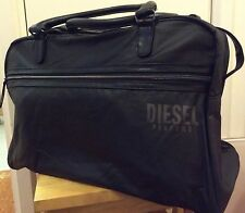 NEW DIESEL BLACK GREY DUFFLE WEEKEND TRAVEL OVERNIGHT HOLDALL SPORT GYM BAG