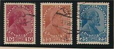 harbin: LIECHTENSTEIN 1917 SC#6,#7 & #9 SET OF 3 (CTO) ORIGINAL GUM LH