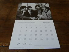 THE BEATLES - Carte - Calendrier !!! MARCH 1993 !!!