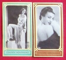 Conchita Montenegro 1936 1937 Bunte Filmbilder Film Stars Cigarette Cards Lot 2