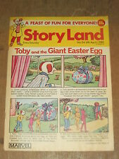 STORYLAND #54 6TH APRIL 1985 MARVEL BRITISH WEEKLY TOBY AND THE GIANT EASTER EGG