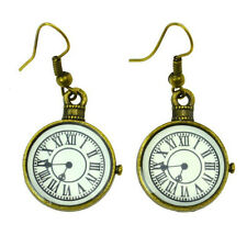 Earrings Gothic Poizen Industries Clock Steampunk Boucle d'oreilles Vintage