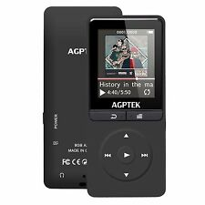 2017 Upgrade MP3 AGPTEK A20 8GB 80 Hours Music Player 1.8'Color screen with I...