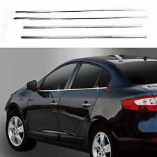 Chrome Door Window Sill Belt Molding Trim Cover for 10+ Renault Fluence SM3