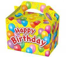 25 Happy Birthday Scatole Per Alimenti Picnic Da Trasporto Cestino Del Pranzo