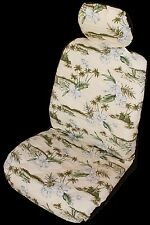 Cream Orchid Hawaiian Separate Headrest Car Seat Cover