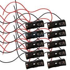 "Lot 10Pcs New 1 23A A23 Battery 12V Clip Holder Box Case with 6"" Leads Black DIY"