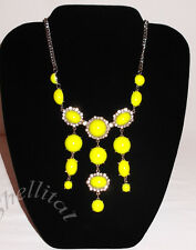 Express NWT $39 Neon TEQUILA LIME YELLOW GEMS &CUBIC ZIRCONIA STATEMENT NECKLACE