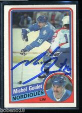 Michel Goulet signed autographed Auto 1984-85 O-Pee-Chee card #280 HOF