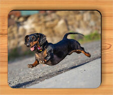 DOG DACHSHUND HAPPY RUNNING OR FLYING MOUSE PAD -uh3e