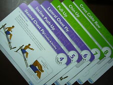 Total Gym Training Deck Exercise Cards (NO holder) Cards