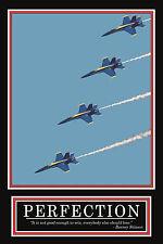 PERFECTION-Barney Stinson Motivational Silk Fabric Canvas Art Poster Printingx