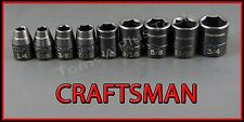 CRAFTSMAN AIR TOOLS 9pc LOT 3/8 Drive Laser Etched SAE Impact socket wrench set