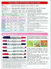 Adger Chako Ace Pen Disappearing Garment FINE Marker A90P&V - 3x PINK+ 3x Violet