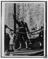 Fascist Leader Benito Mussolini il Duce Italy Speaking, 5x4 inch Reprint Photo