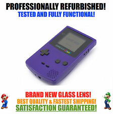 *NEW GLASS SCREEN* Nintendo Game Boy Color GBC Grape Purple System