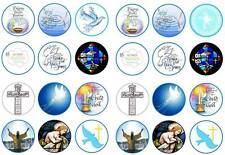 24 baptism boys christening holy church bun cup cake toppers  party edible paper