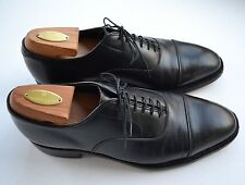 Vtg Johnston Murphy Crown Aristocraft Black Captoe Oxford Lace Up Shoe Size 9 C
