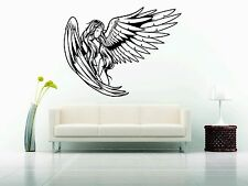 Wall Sticker Decal Vinyl Decor Angel Dark Girl Woman Sexy Hot Wing Wings Fairy