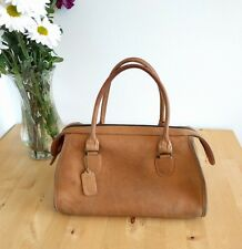 VINTAGE! Classic Coach Madison Satchel British Tan Leather Speedy Doctor Arm Bag