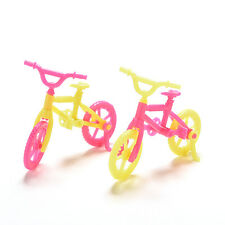 2x Bicycles Bikes Mini Toy for Barbie Accessories Girls Birthday Gift