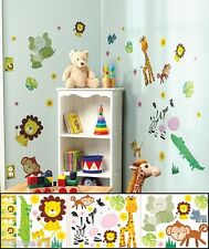 Jungle Animal Kids Room Decal Set Appliqués Outlet Light Switch Cover Wall Decor
