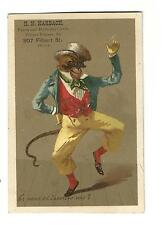 Old Trade Card Harbach Birthday Cards Picture Frames Phila Mouse Dressed As Man