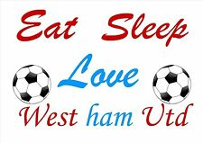 WEST HAM UTD SUPPORTER / FAN QUOTE POSTER / PRINT / PICTURE