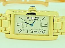 Womens Cartier Tank Americaine American 18K Solid Gold