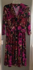RONNI NICOLE Womens Size 14 Floral Print 3/4 Sleeve Empire Waist Cocktail Dress