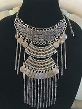 Unique Egyptian Bedouin(Tribal Style) Belly Dance Custume Necklace Hand Made.
