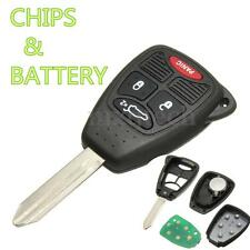 Remote Head Key Fob Entry With Transponder Chip & Uncut For Dodge Chrysler Jeep