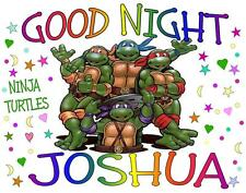 "NINJA TURTLES Personalized PILLOWCASE ""GOOD NIGHT"" Any NAME Super Soft"