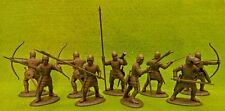 French Archers & Billmen Medieval Knights 1/32 54MM Expeditionary Force Toy