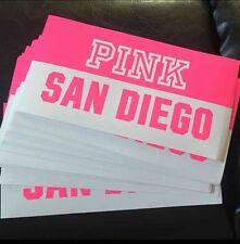 3x Victoria's Secret Pink City Bumper Sticker San Diego, California Car Decal