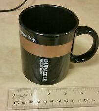 Ceramic Duracell Alkaline Battery Morning Fuel Boost Coffee Mug Copper Top Cup